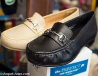Diana classic  loafer EE to 4E wide fit. Ideal to use with Orthotics and Healthy Footwear Guide approved. Available online or from our Whitchurch Hampshire Shop between Basingstoke, Winchester, Andover and Newbury Berkshire.